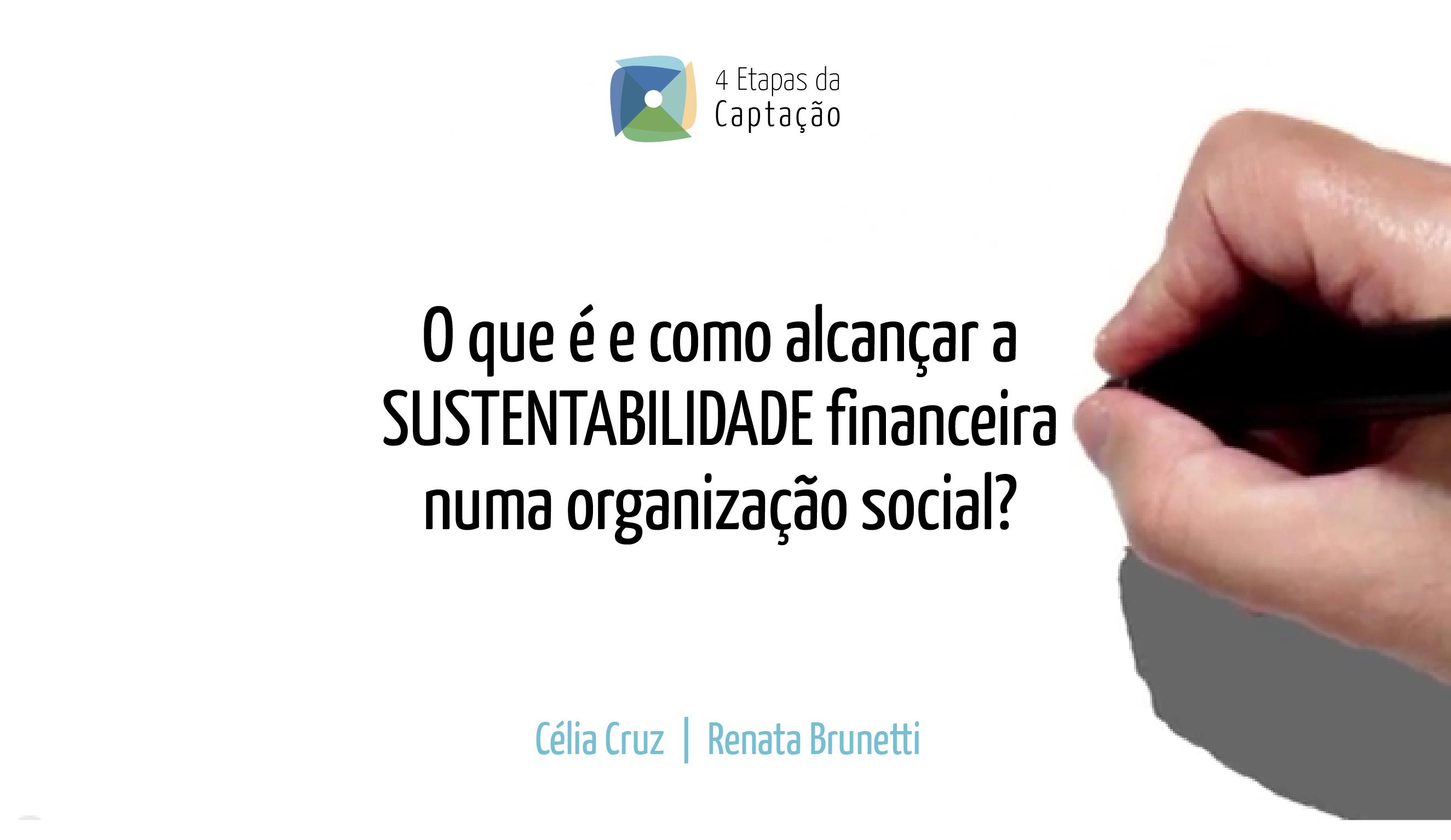 O que e e como alcancar a SUSTENTABILIDADE financeira numa organizacao social
