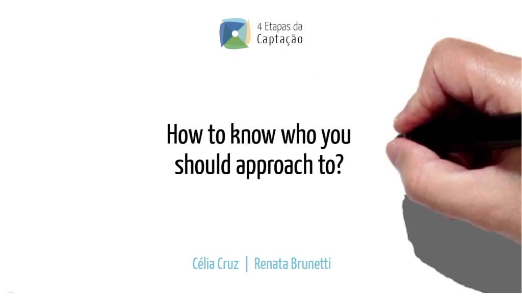 __How to know who you should approach to-