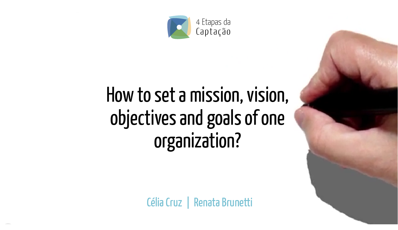 __How to set a mission, vision, objectives and goals of one organization